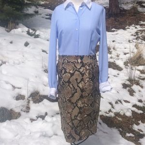 Altuzarra Target Pinstripe & Python Print Dress